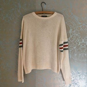NWT Don't Ask Why Knit Crew Sweater with Stripes